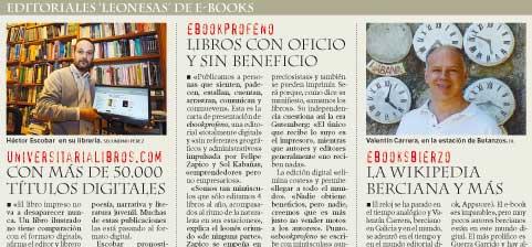 Tres editoriales leonesas de ebooks