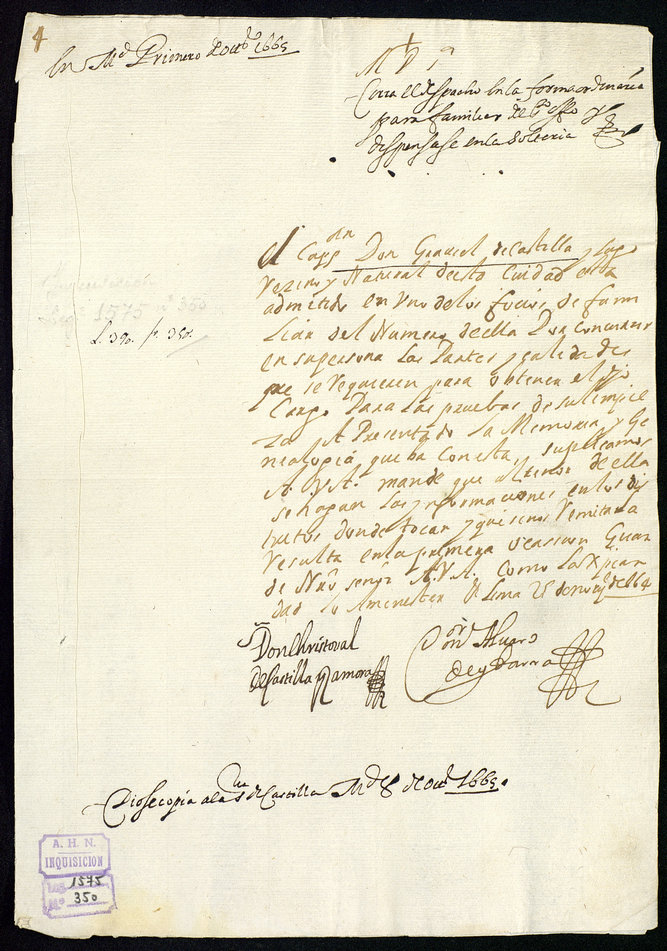 Archivo Historico Nacional legajo 1575 Gabriel de Castilla (2)