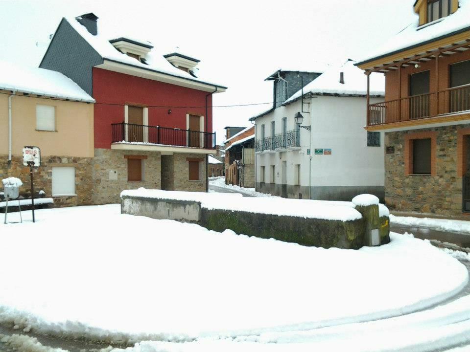 Plaza del abrevadero en invierno