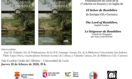 La Universidad de León presenta The Lord of Bembibre y Le Seigneur de Bembibre